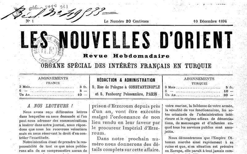 La question d'Orient et le Vorwärts. Une analyse de 1896 de Rosa Luxemburg à propos de la &quot&#x3B;Question d'Orient&quot&#x3B;
