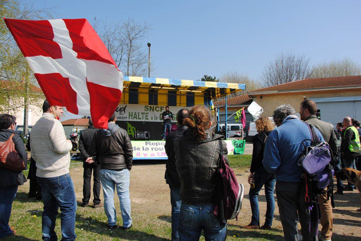 Sud-Rail demande une plate forme de chargement fret à Ambérieu en Bugey