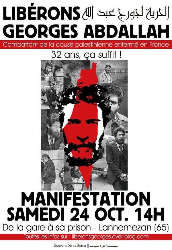 Actions de solidarité avec Georges Ibrahim Abdallah - Articles septembre 2015 - Appel à manifestation