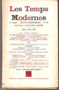 Pouvoirs spéciaux. Les Temps modernes, mars avril 1956. Un article historique sur la guerre d'Algérie. A lire avec le risque de voir l'état d'urgence s'inscrire dans la constitution.