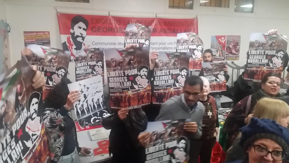 Déclaration de Georges Abdallah pour le meeting du 19 mars 2016 à Paris.