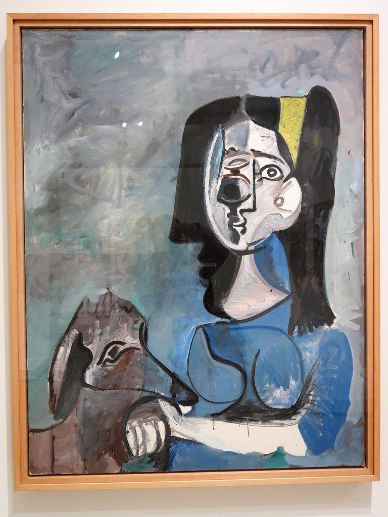 Femme au chien 1961-1962