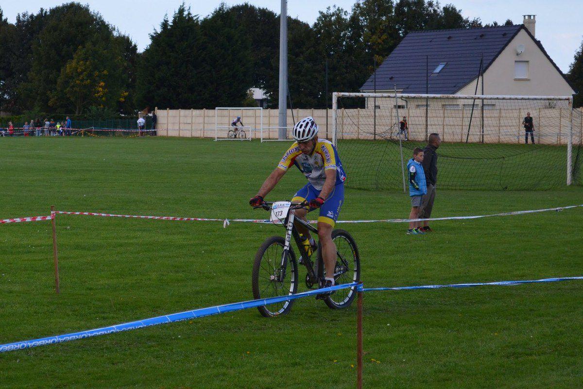 Laurent pendant la course