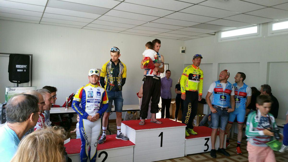 Les podiums avec Dominique et Emilien