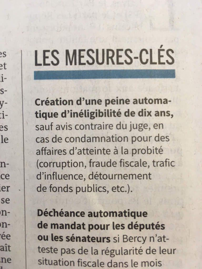 Loi anti-corruption : 10 ans d'inéligibilité... vivement qu'elle passe !