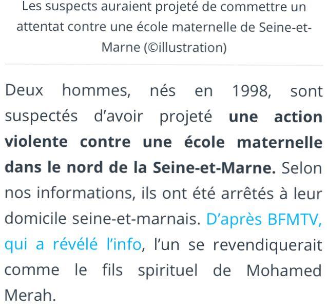 URGENT : terrorisme contre maternelle...