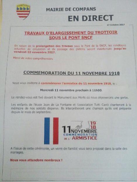 Mairie égale à elle même... même le 11 novembre elle se plante...