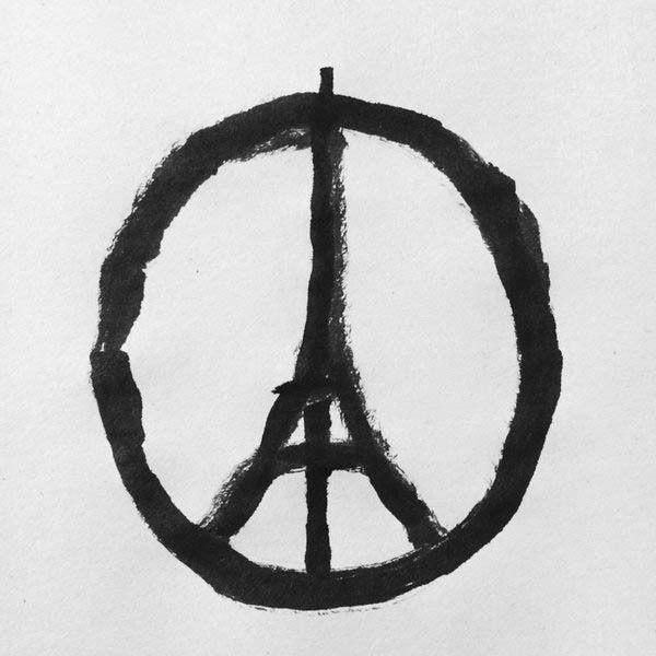 En mémoire des victimes des attentats du vendredi 13 Novembre à Paris