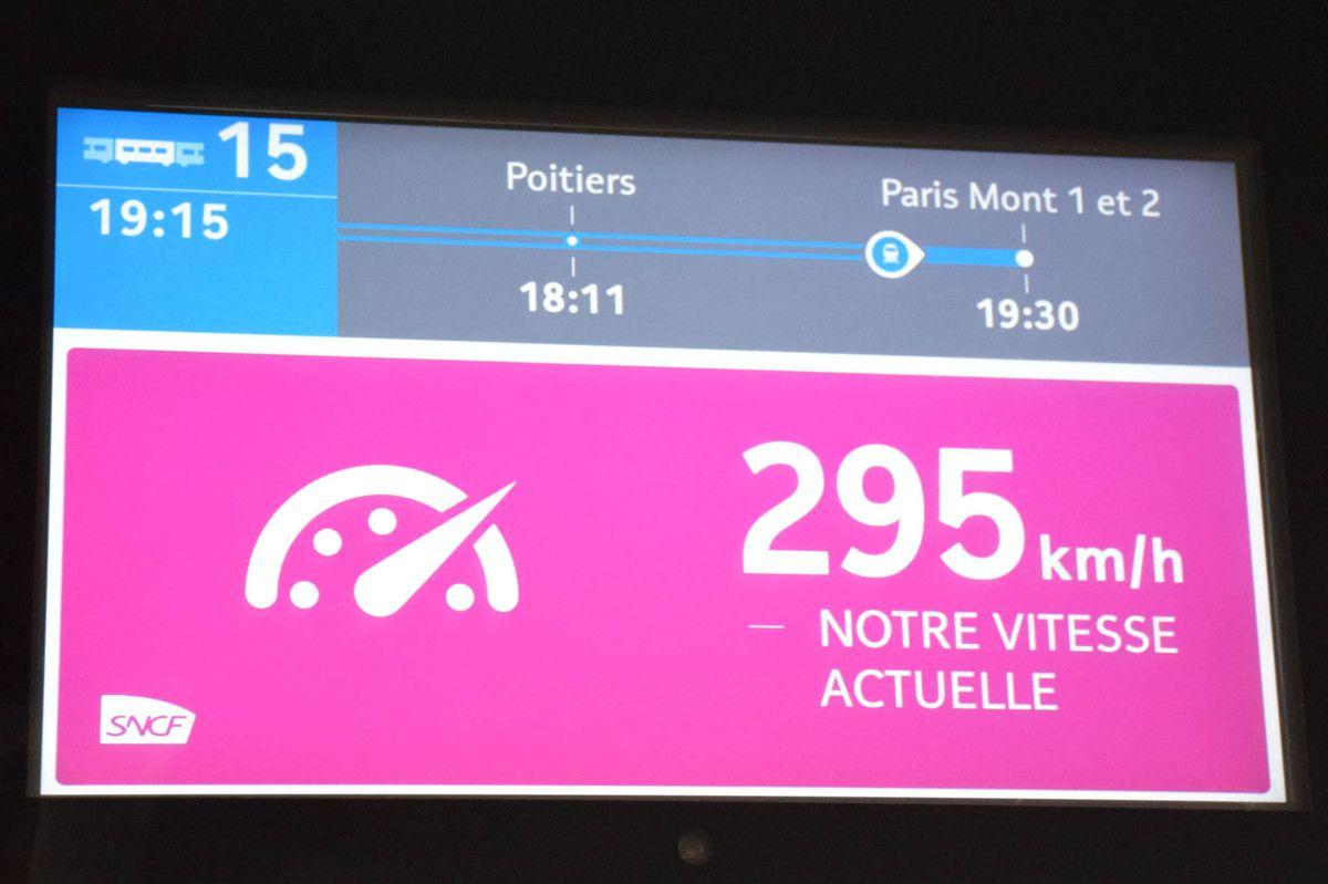 Le TGV ne dépasse jamais les 300 Km/H