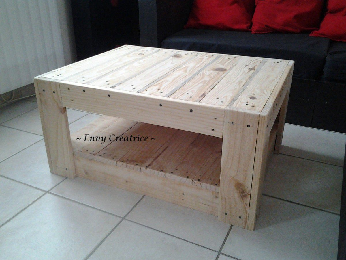 Table basse en palette grise for Table basse palette