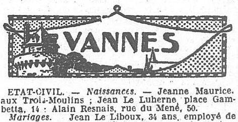 """Dans le """"Ouest-Eclair"""" du 9 juin 1922."""