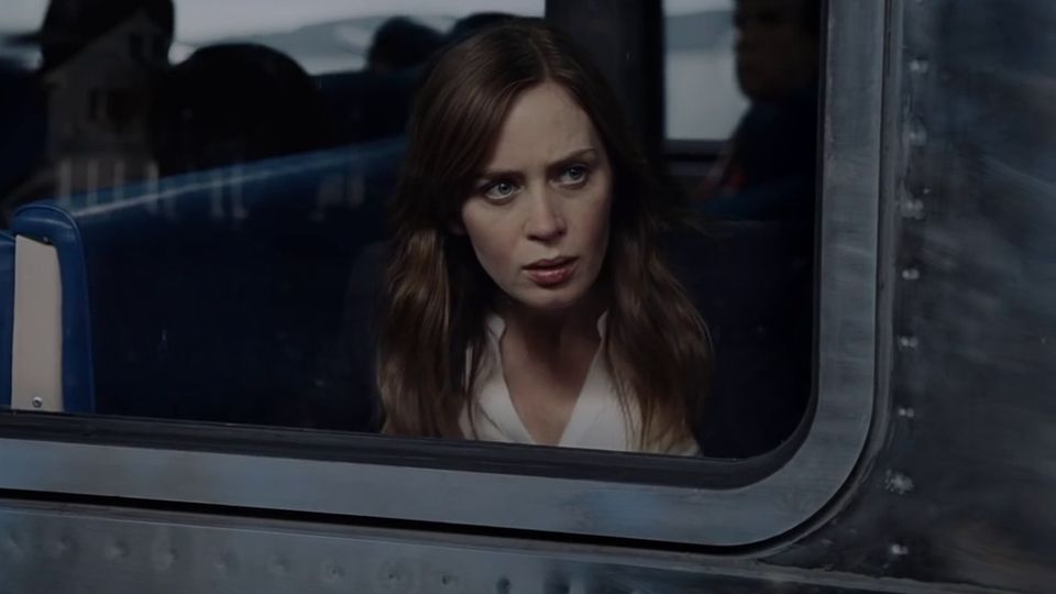 "Emily Blunt dans le film ""La fille du train""."