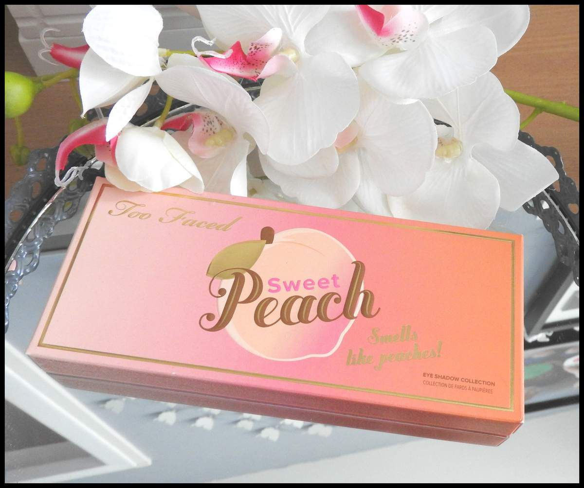 Swatchs Sweet Peach de chez Too Faced