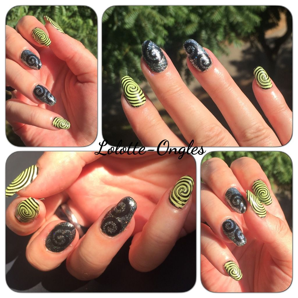 Nail art tourbillons