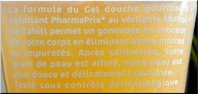 Gel douche Exfoliant au monoï de la marque Pharmaprix