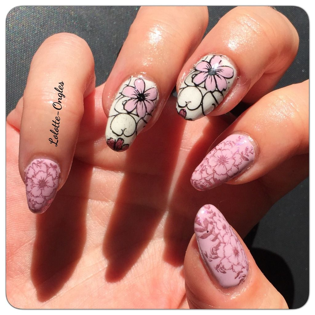 Accent nail stamping inversé