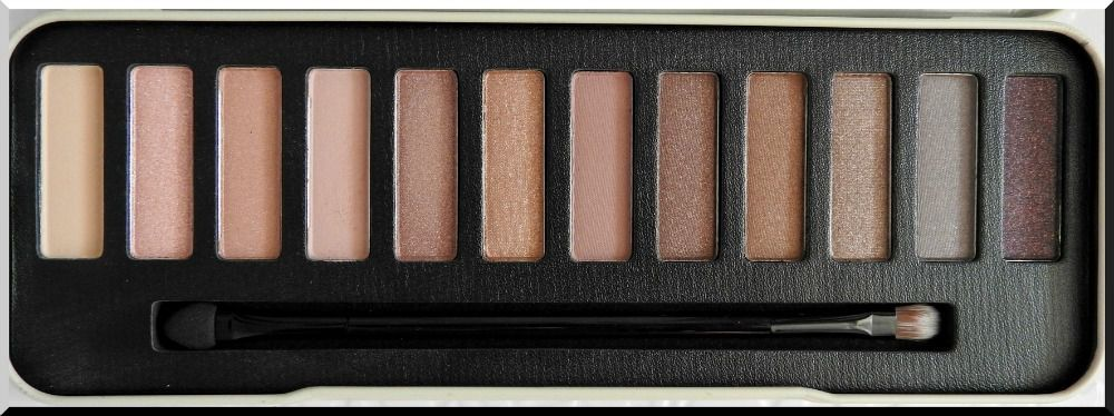 Swatch de la palette &quot&#x3B;In the Nude&quot&#x3B; de chez W7