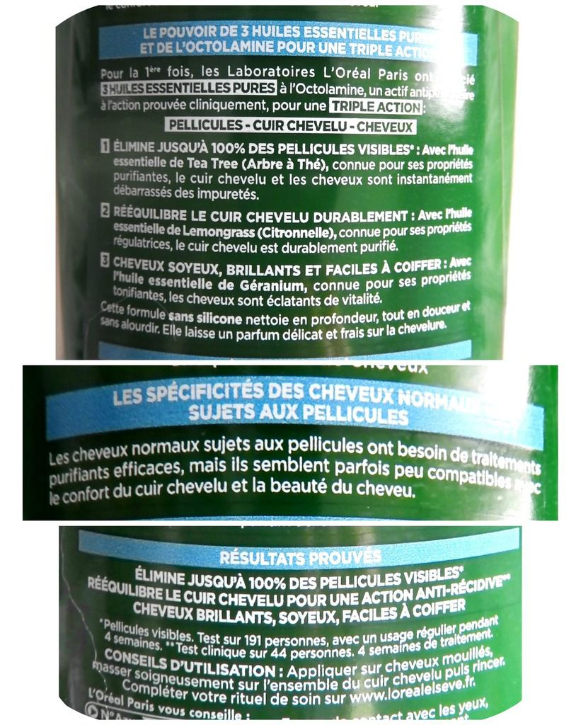 Shampoing anti-pelliculaire et Gommage Phytoclear l'Oréal
