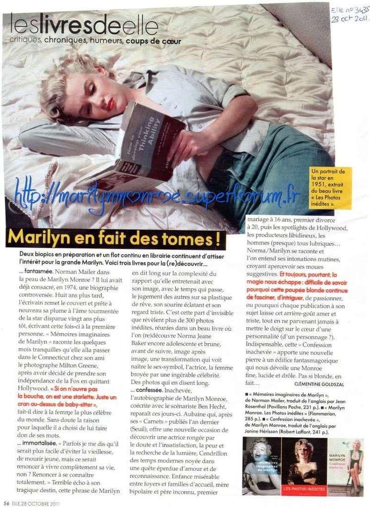 Marilyn en fait des tomes !