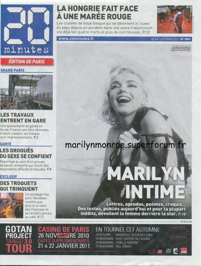 Marilyn intime