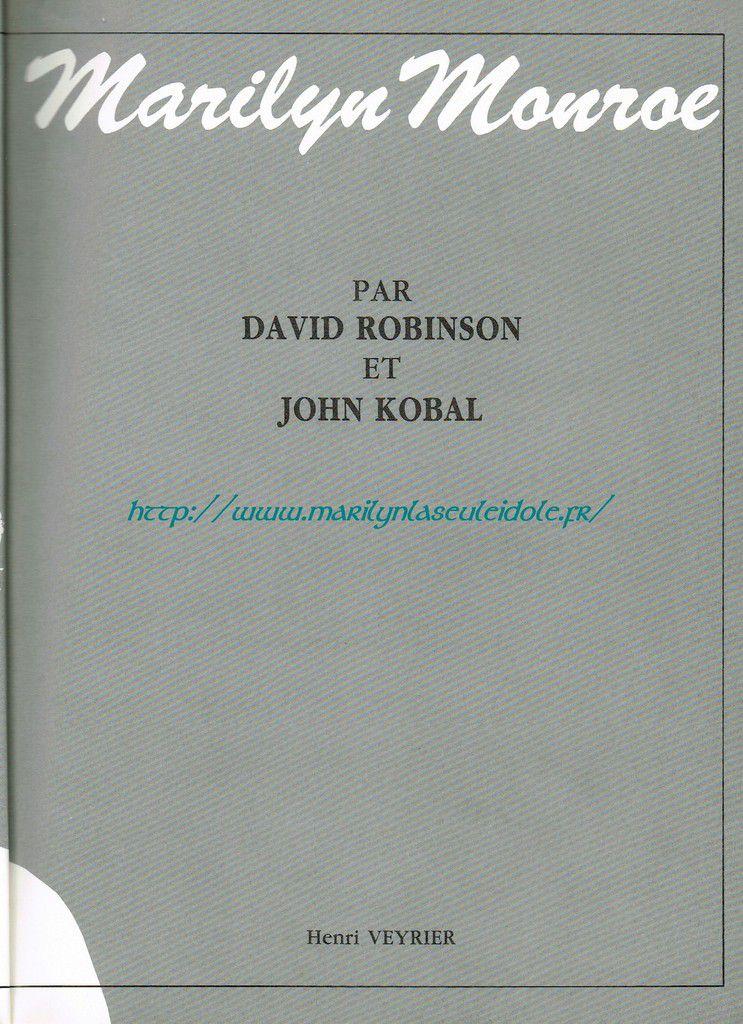 Marilyn Monroe par David Robinson et John Kobal