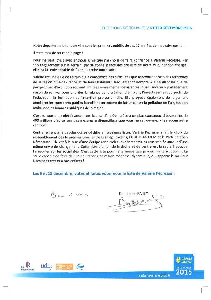 Je soutiens la candidature de Valérie PECRESSE !
