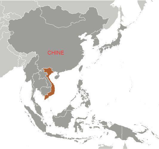 Localisation du Vietnam