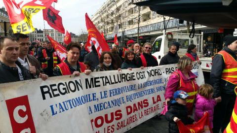 Manifestation du 9 avril à Valenciennes