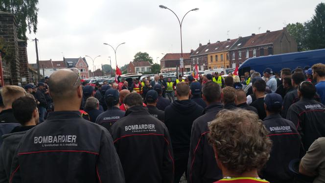 Mobilisation contre la loi travail à Bombardier Crespin le 9 juin 2016