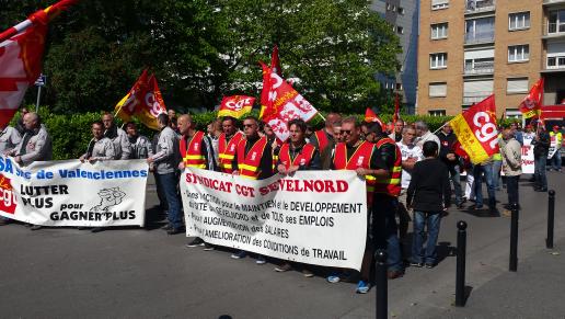 Manifestation à Valenciennes 9 juin 2015