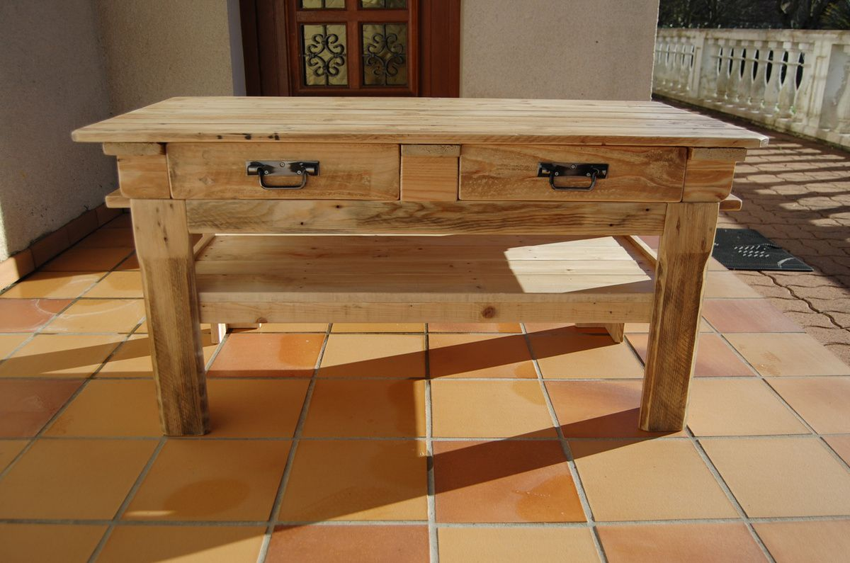 Table tele en bois avec dimensions sammlung for Table de tele