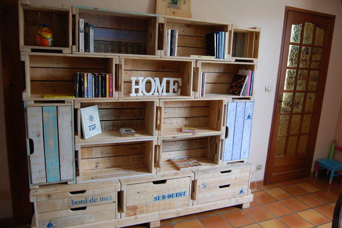 l 39 espace des caisses en bois de palette meubles en bois de palette. Black Bedroom Furniture Sets. Home Design Ideas