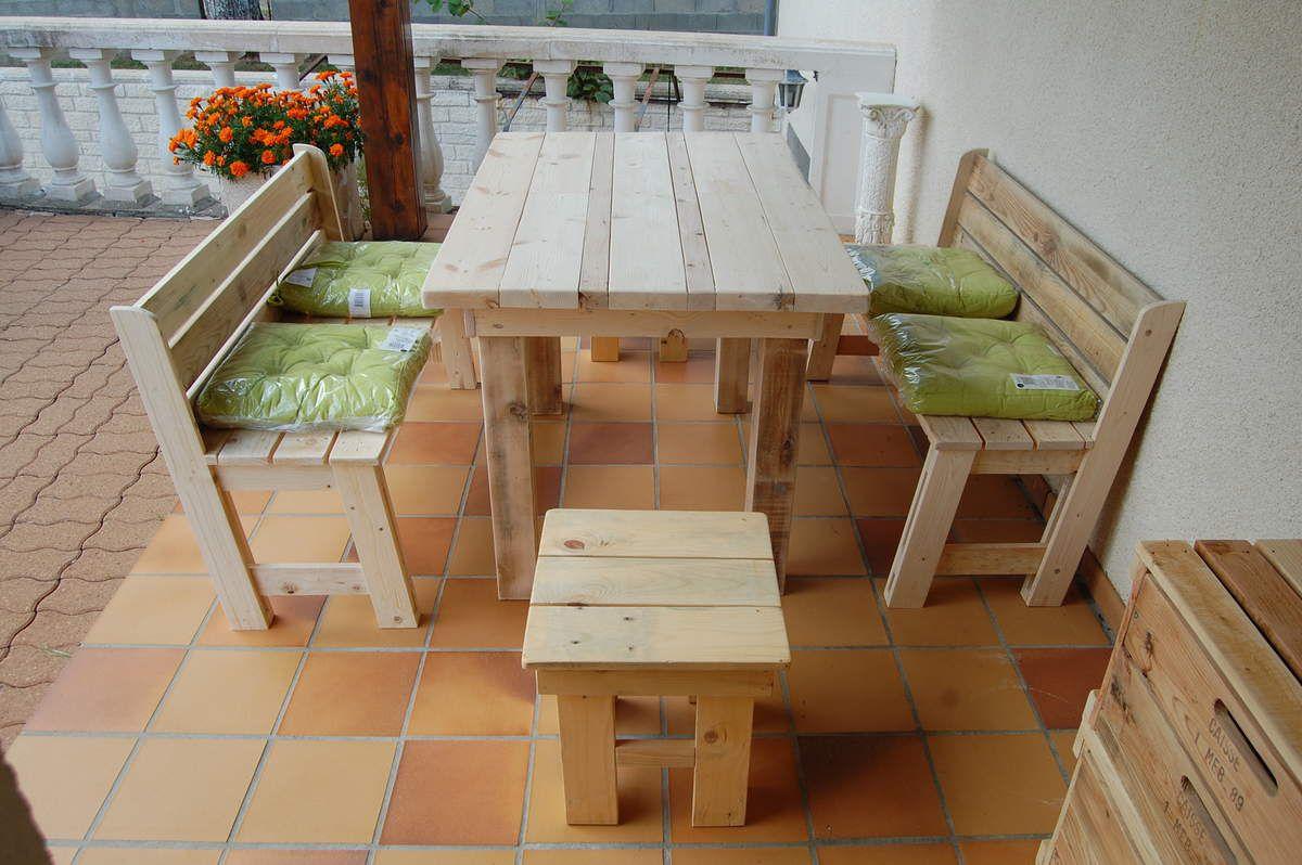 Meubles en bois de palette meubles en bois de palette - Table de cuisine en palette ...