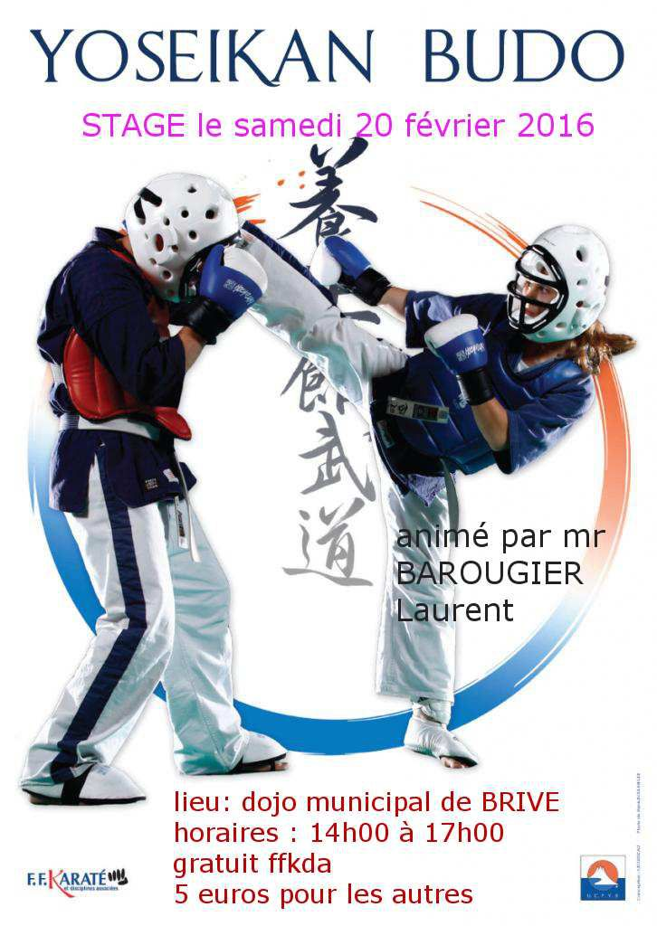 Stage YOSEIKAN BUDO animé par MR BAROUGIER Laurent