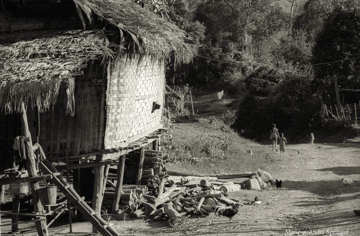 Environs d'Udomxay - Vat de village.