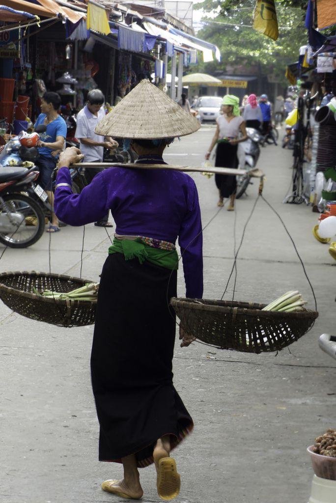 VIETNAM : le marché de Nghia Lo.