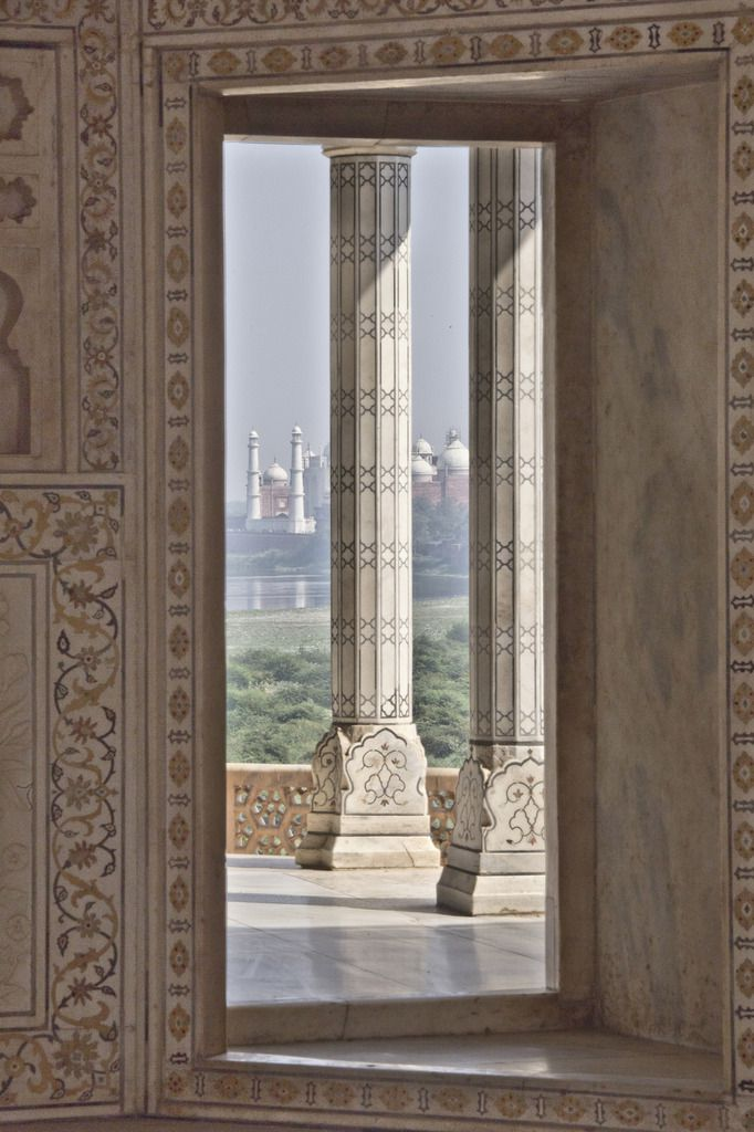 Le palais aux fenêtres aveugles - Inde - Uttar Pradesh - Agra - Fort Rouge