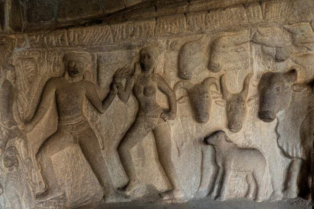 L'ondoiement du Prince 2 : Inde - Tamil Nadu - Mahabalipuram - Mandapa de Krishna