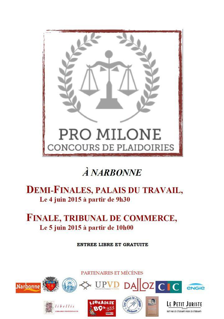 #ProMilone - Affiches officielles des concours de plaidoiries...