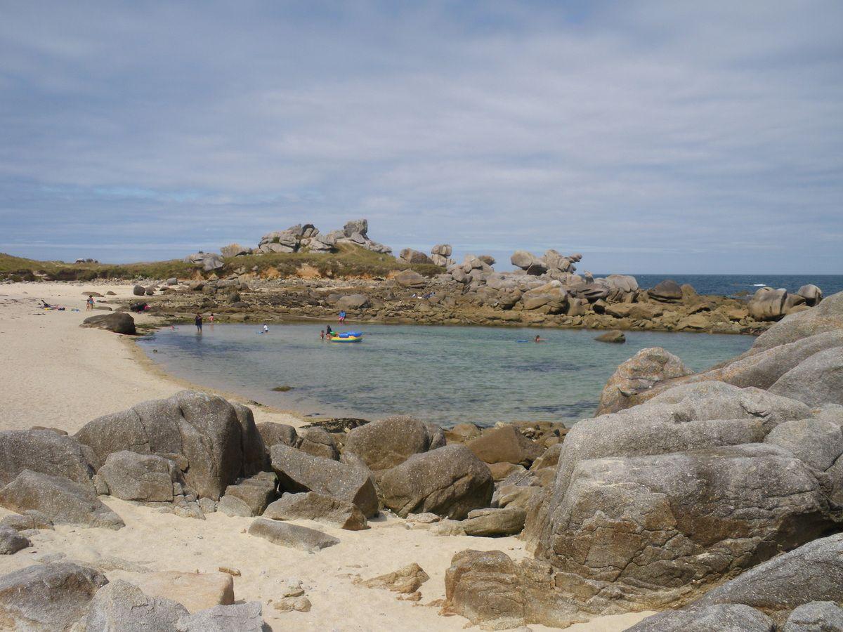 quelques plages de Bretagne au mois d'août