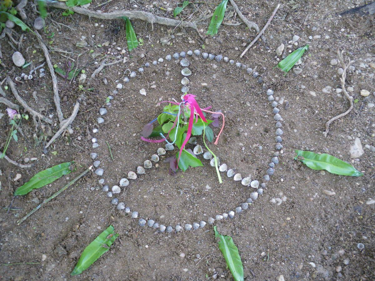 Land art au bord du Doubs