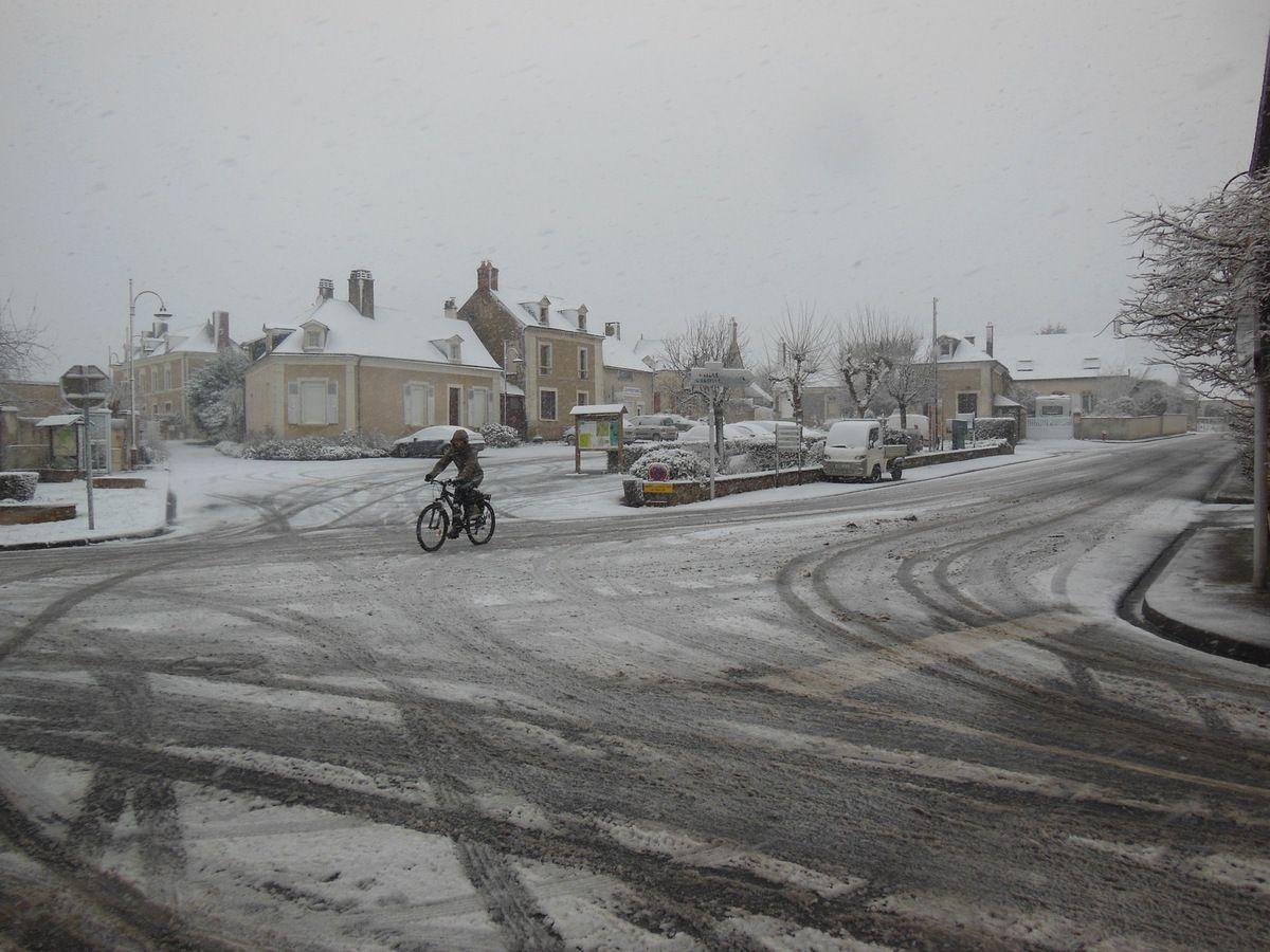 L'hiver est bien là... un lundi enneigé à Jupilles