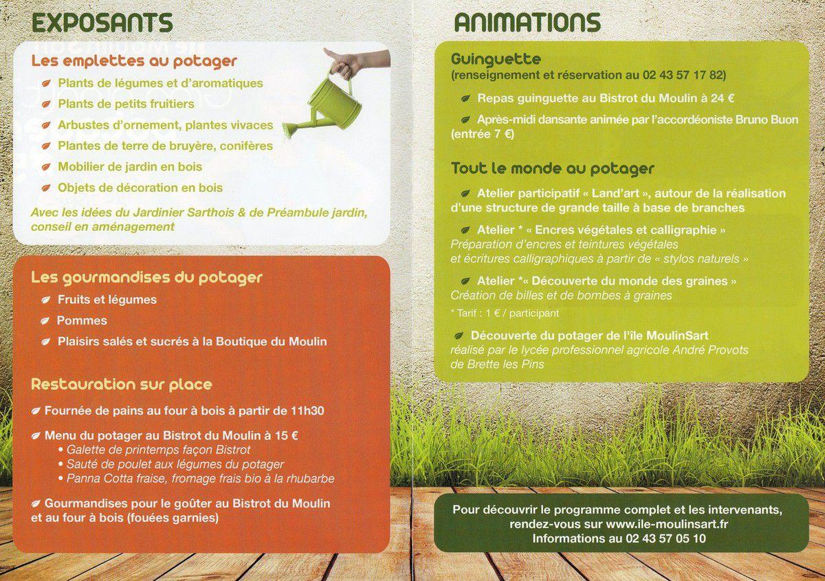 Marché potager et animations à Fillé-sur-Sarthe