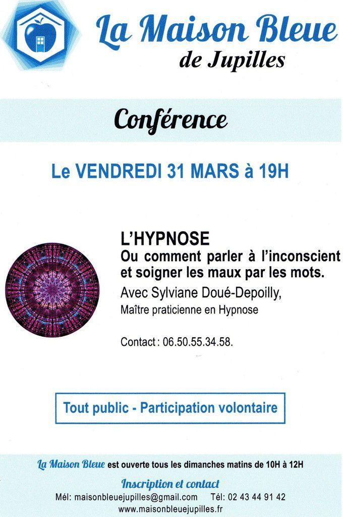 L'hypnose : conférence à la Maison Bleue