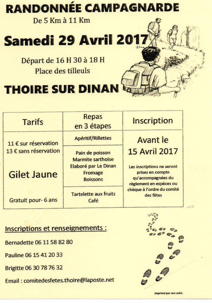 Randonnée campagnarde à Thoiré sur Dinan