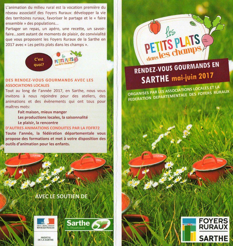 &quot&#x3B;Les petits plats dans les champs&quot&#x3B; avec les Foyers Ruraux de la Sarthe