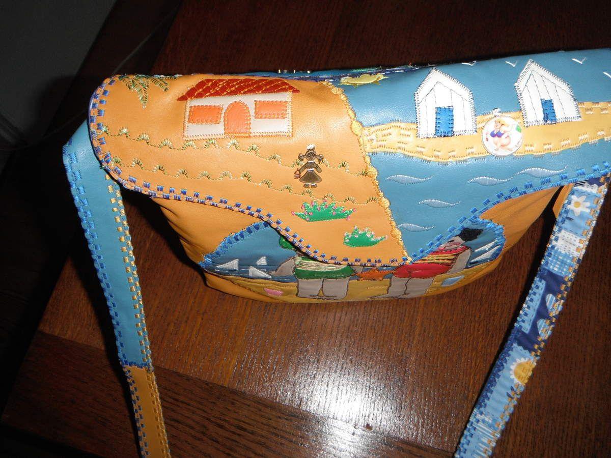 sac en cuir style rétro