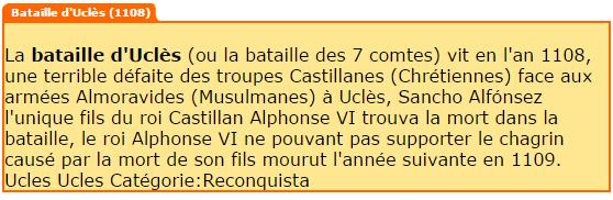 La bataille d'Uclès de 1108 !