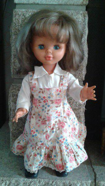 1976/1977 Poupée Bella Coraline 45 cm n° 45.14 en tenue d'origine.