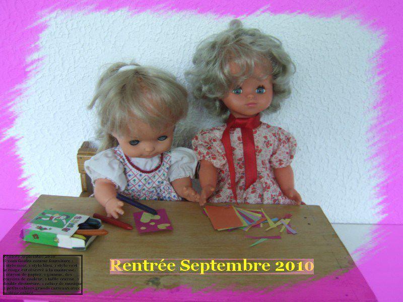 Mauricette. Dernière photo de Mauricette et une poupée Gégé,  prise pour une histoire pas encore publiée.